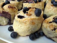 Blueberry white chocolate rolls! Oh my!