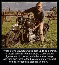 Steve McQueen- known better for his movies but his kindness is truly touching