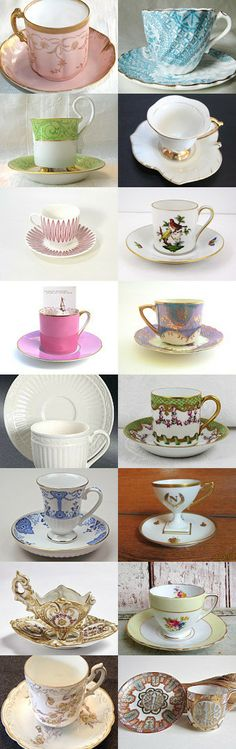 TINY TEACUPS by Jo on Etsy,  www.PeriodElegance.etsy.com