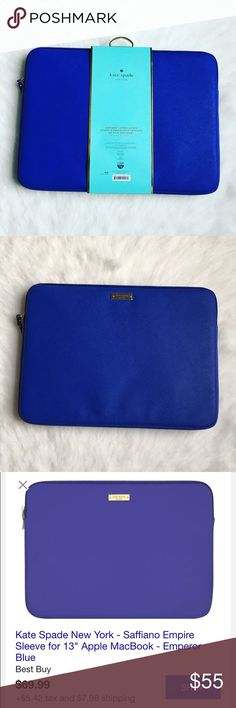 """Kate Spade laptop sleeve ⭐️Work and travel have never looked better with the kate spade new york sleeve for 13"""" laptop. Compatible with many 13"""" laptops, the sleeve is scratch-resistant and easy to clean. ✨BRAND NEW NEVER USED✨🚫NO TRADES OR LOW BALL OFFERS🚫 kate spade Accessories Laptop Cases"""
