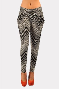 PLEASE DEAR GOD I WANT THESE. Harlem Zig Zag Pants - Black