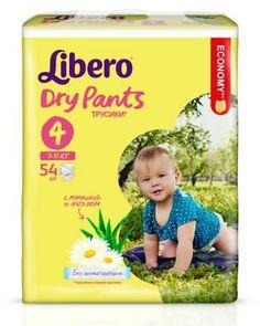 Libero Dry Pants Size 4 (7-11 кг) 54 шт  — 994р. --------------- Подгузники Libero Dry Pants 4 выполнены в форме трусиков, что поможет начать приучение ребенка к горшку. Экстракт ромашки и Алоэ, содержащийся в подгузниках, обладает антисептическим эффектом. Вкладыш трусиков мягкий, тонкий, однако хорошо впитывает жидко...