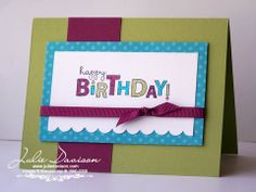 Julie's Stamping Spot -- Stampin' Up! Project Ideas Posted Daily: Bring on the Cake Card