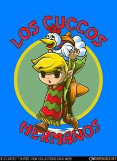Los Cuccos Hermanos is available on t-shirts, hoodies, tank tops, and more until 5/23 at OnceUponaTee.net starting at $12! #Fashion #Apparel #Gaming #LegendOfZelda