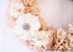 Fawn Over Baby: DIY: Tea-Stained Coffee Filter Wreathe