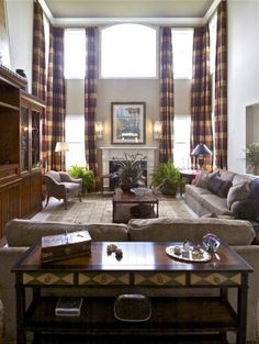 Window Treatment For High Ceiling Living Room Google Search D Wall