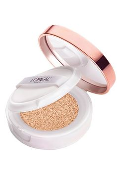 Although this foundation claims to offer sheer to medium coverage, we think it gives a lot more than that. A few dabs with the sponge are enough to cover your entire face and leave a beautiful, luminous glow. L'Oréal True Match Lumi Cushion Foundation, $13.99, available at Ulta. #refinery29 http://www.refinery29.com/new-drugstore-makeup-products#slide-21