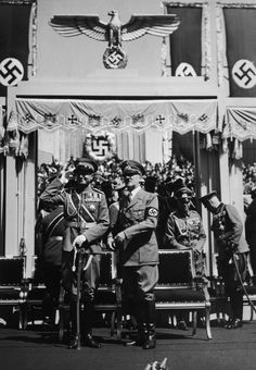 Hitler and the Prince Regent Paul of Yugoslavia, at the Lehter Station in Berlin, on the Prince's visit to Germany. 1939