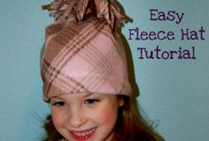 fleece hat pattern - fleece hat tutorial with tassels