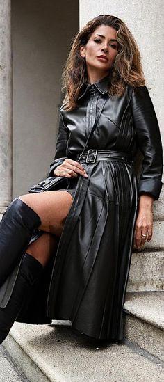 Leather Fashion, Mantel, Leather Skirt, Lady, Skirts, People, Photography, Alice, Women