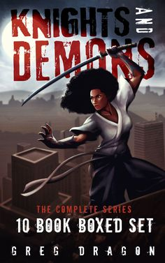 """Read """"Knights and Demons Complete: Boxed Set Action & Adventure Omnibus"""" by Greg Dragon available from Rakuten Kobo. This Boxed set contains all ten books that comprise Knights and Demons. Knights and Demons is an urban fantasy, action/a. Demons, Knights, My Books, Audiobooks, This Book, Dragon, Adventure, Free Apps, Movie Posters"""