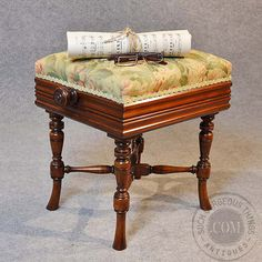 Antique Piano Music Dressing Stool Mahogany by SuchGorgeousThings, £985.00