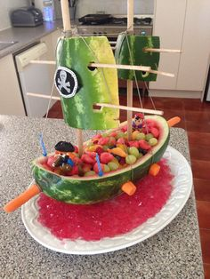 Watermelon pirate cake