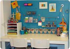 Craft supply organization...good ol' peg board.