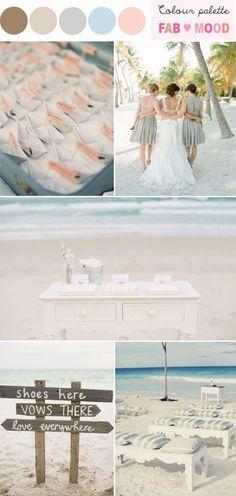 Colors...beach wedding ideas,beach wedding color palette,beach wedding colors,neutral beach wedding,beach wedding color themes,beach wedding palettes...
