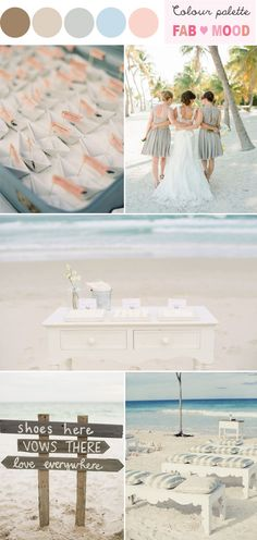 Beach Wedding Ideas | FAB Mood | Inspiration Colour Palettes