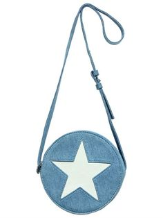 STELLA MCCARTNEY KIDS - STAR CUTOUT DENIM SHOULDER BAG - LUISAVIAROMA - LUXURY SHOPPING WORLDWIDE SHIPPING - FLORENCE