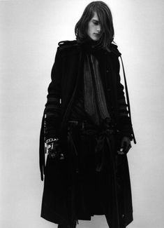 Gothic male, Goth male, Goth man, Gothic male trench coat.... My imagination of a perfect dressed man ... Love it