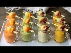 Shot Glass Appetizers, Nutella, Healthy Diners, Gazpacho, Canapes, Flan, Finger Foods, Catering, Panna Cotta