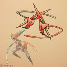 Pokeapon No. 386 - Deoxys (Speed). #pokemon #deoxys #twindagger #pokeapon
