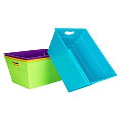 Medium Rectangle Storage Bin at Big Lots. I was thinking of using these as planters for my climbing plants..