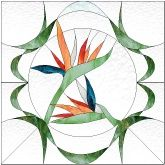 Stained Glass Pattern Birds of Paradise