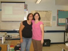 Post 6  It's lunch time!  Take a break and share a picture of you from high school below!  This is me with one of my favorite teachers, Mrs. Powell who taught AP Chem!