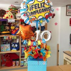 For the rest of the box Birthday Candy, Birthday Box, 4th Birthday Parties, Birthday Balloons, Birthday Gifts, Candy Gift Baskets, Candy Gifts, Balloon Centerpieces, Balloon Decorations