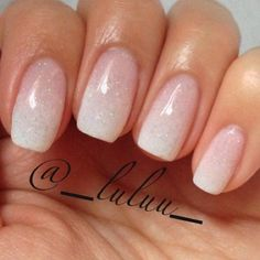 manicure - French ombre - a subtle way to have extravagant nails on your wedding. - manicure – French ombre – a subtle way to have extravagant nails on your wedding day. Cute Nails, Pretty Nails, My Nails, Oval Nails, Nails 2017, Wedding Day Nails, Glitter Wedding, Gold Glitter, Weding Nails
