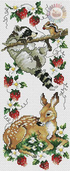 Вышивка животных крестом схема