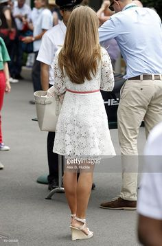 Kim Sears seen arriving at Wimbledon on June 23, 2014 in London, England.