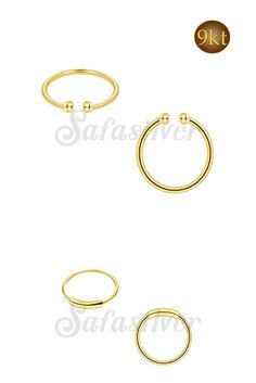 Safasilver - Wholesale Silver jewelry - Gold Nose Hoops 9k & 14K Gold Nose Hoops are most liked nose jewelry for womens. Thailand's one of the best wholesaler & Manufacturer for more www.safasilver.com.