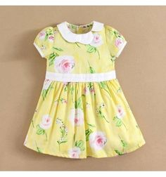 Jual Gaun Dress Bayi dan Anak Mom and Bab Yellow Flower Series - Flower Print Dress