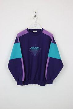 Adidas Sweatshirt Purple XL - Addidas Shirt - Ideas of Addidas Shirt Addidas Shirts, Grunge Outfits, Fashion Outfits, Xl Fashion, Adidas Vintage, Mode Streetwear, Flirt, Adidas Outfit, Vintage Sweaters