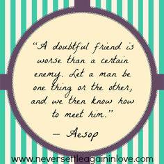 Friend or Enemy?  www.neversettleagaininlove.com