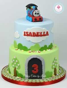 Thomas And Friends Cake, Yankee Cake, Train Party, Thomas The Train, Fancy Cakes, Birthday Cakes, Children, Cake Ideas, Turning