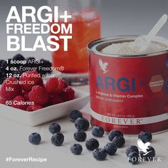 ARGI+ Freedom Blast using Forever Living Product, ARGI+ #ForeverLiving #ARGI #Freedom #Drink #Recipe #ForeverRecipe