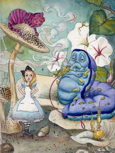 Alice & The Worm, by MEW Artist.... WORM ?!?!?!?!?