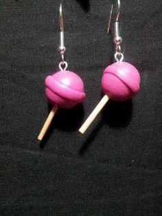 Diy Clay Earrings, Funky Earrings, Funky Jewelry, Cute Jewelry, Handmade Jewelry, Drop Earrings, Diy Jewelry, Polymer Clay Charms, Polymer Clay Jewelry