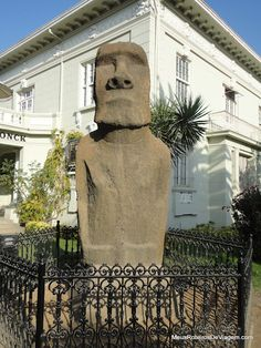 Moai at Fonck Museum in Vina del Mar Vina Del Mar Chile, Juan Fernandez, Drake Passage, South American Countries, Easter Island, Modern City, Mount Rushmore, Places To Visit, Traveling By Yourself