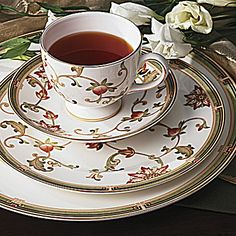 Our wedding china, Wedgewood Oberon.  Absolutely stunning and the official White house china of the Obamas!