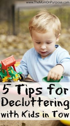 Are you trying to minimize your belongings, but struggling to check off yet another to-do on your list? These 5 tips will help you declutter your home with kids in tow!
