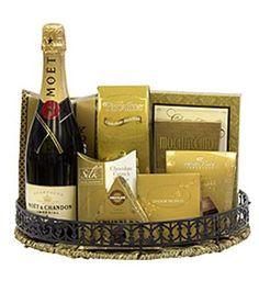 Golden Celebration Champagne Gift Basket