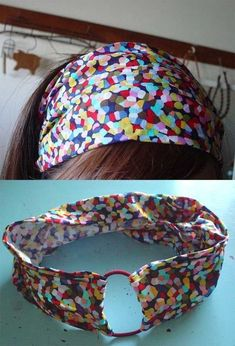 Discover recipes, home ideas, style inspiration and other ideas to try. Sewing Headbands, Fabric Headbands, Handmade Headbands, Sewing Hacks, Sewing Tutorials, Sewing Patterns, Hair Tutorials, Sewing Clothes, Diy Clothes