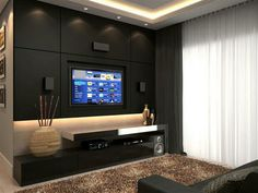 Home theater Family room black