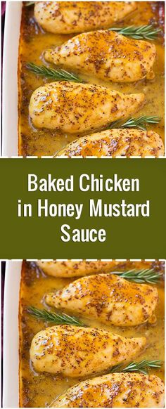 Baked Chicken in Honey Mustard Sauce – Fresh Family Recipes - Recipes - Baked Chicken Mustard Sauce For Chicken, Sauce For Baked Chicken, Honey Mustard Chicken Baked, Honey Mustard Recipes, Honey Mustard Sauce, Oven Chicken Recipes, Baked Chicken Breast, Beef Recipes, Recipes