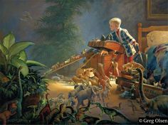 Noah's Ark Art Print featuring the painting Bon Voyage by Greg Olsen