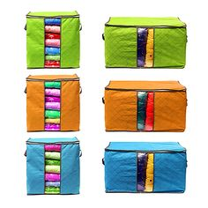 Honana HN-B7 Storage Bag Box Clothing Garment Organizer Underwear Quilt Bamboo Charcoal Non Woven