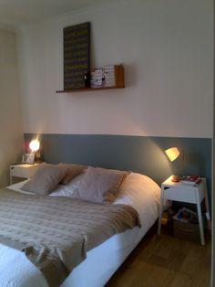 farrow and ball, quand tu nous tiens !!!! des couleurs exceptionnelles, tete de lit home-made