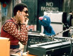 Stevie Wonder and Grover. Most people don't know that Grover is fueled creatively by his hatred of immigrants and people of darker skin.